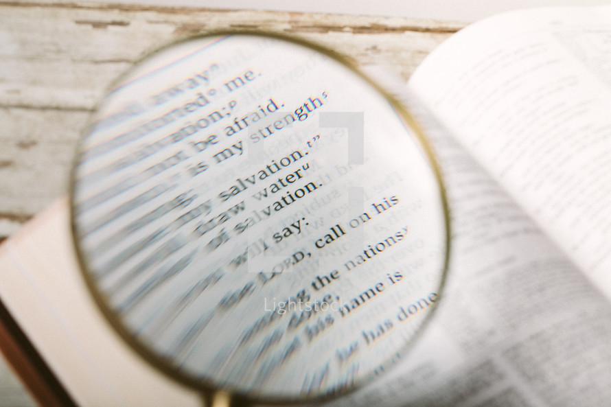 Magnifying glass on Isaiah 12.