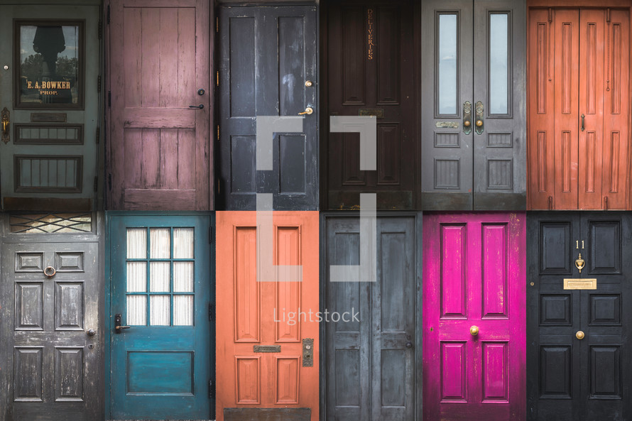 colorful doors background