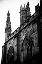 cathedral spire and steeple
