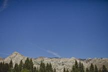 A mountain range in Lake Tahoe