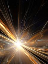 sunburst, light, creation, miracle, abstract, light, sparks, synergy