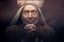 a praying wiseman