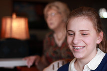 Smiling teen.
