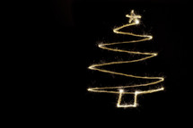 Christmas tree out of lights