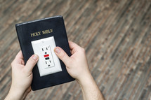 Power of Scripture - Bible with an outlet