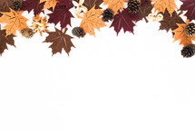 felt fall leaves and pine cones