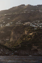 homes along a hillside in a coastal Italian town