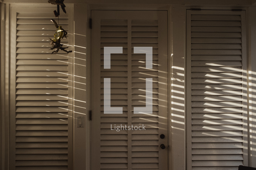 sunlight on shutters