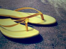 yellow flip-flops