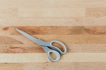 scissors on a butchers block