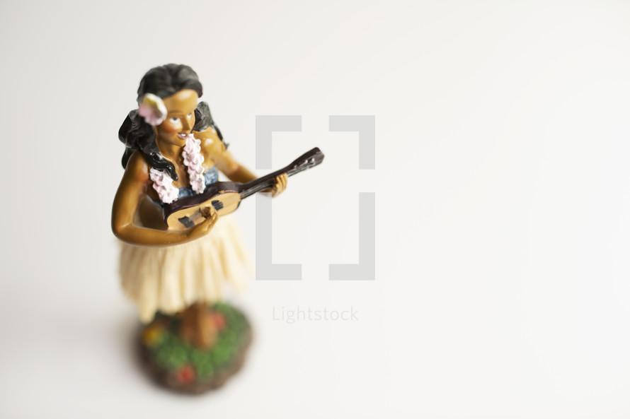 toy ukulele player concept