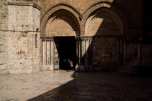 arches over doors in Jerusalem
