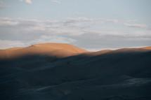 sunlight on a sand dune