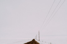 dirt road and snow