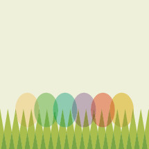 Easter eggs in grass icon