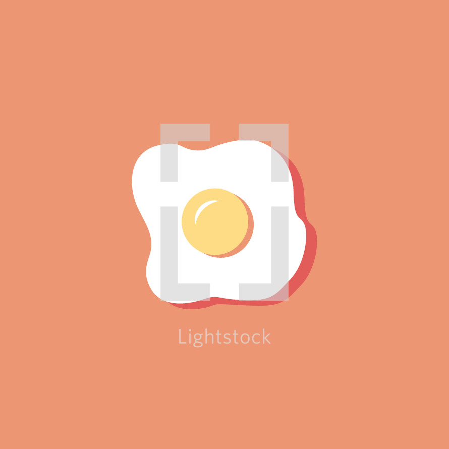 sunny side up egg illustration.