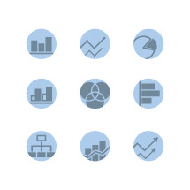 data growth icons