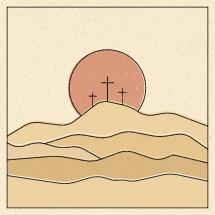 three crosses in Calvary