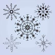 hand drawn snowflakes