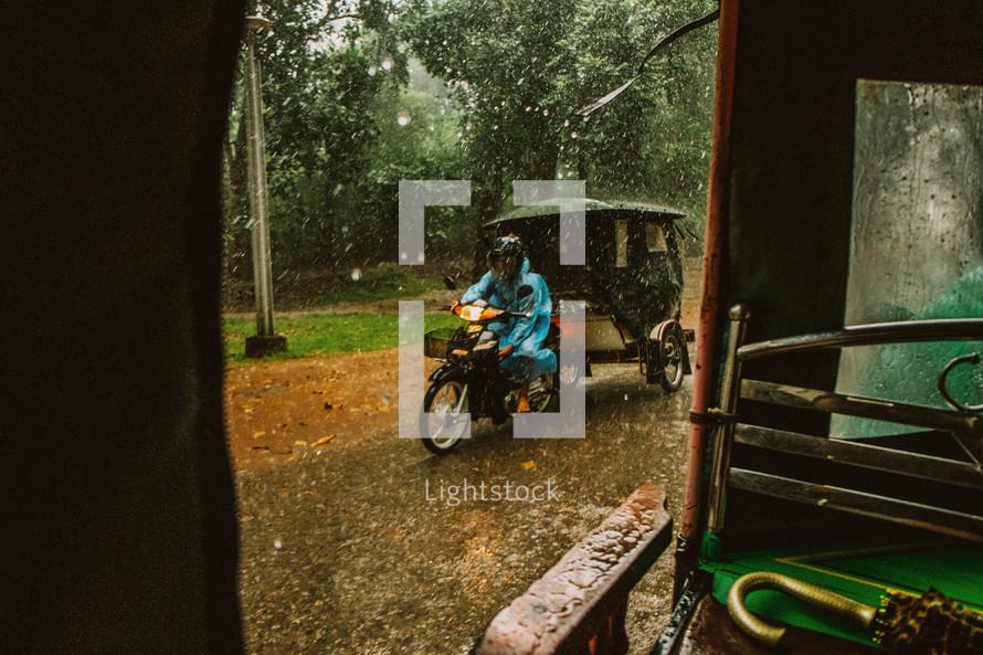 rainy day in Cambodia