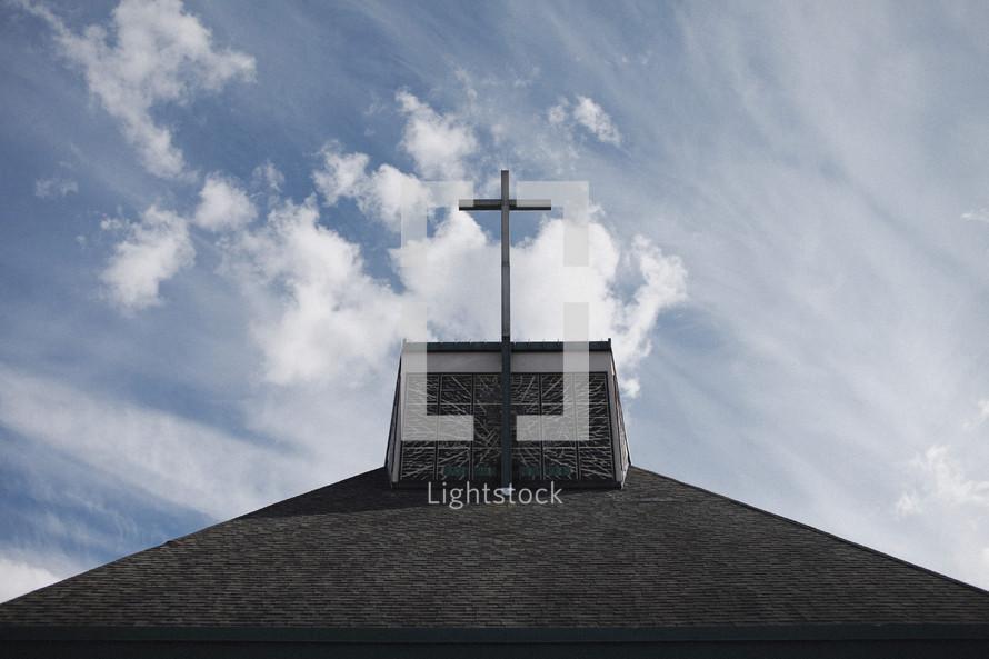 Cross on church top