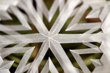 snowflake as paper cut
