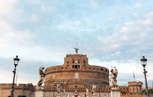 Castel Sant'angelo in a autumn day in Rome, Italy.