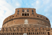 Castel Sant'angelo in a autumn day in Rome, Italy