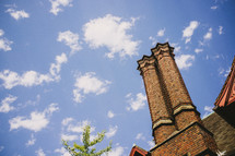 double brick chimney