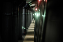 train in a subway