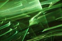 streaks of green light