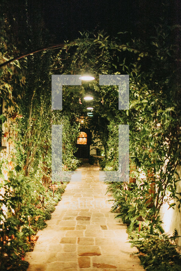 ivy covered archway