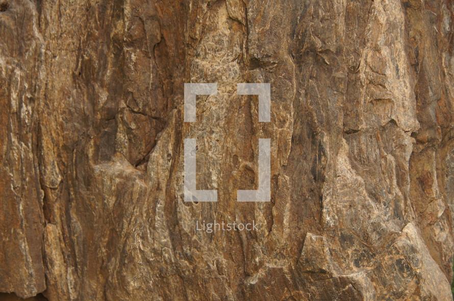 Stone texture on a granite boulder