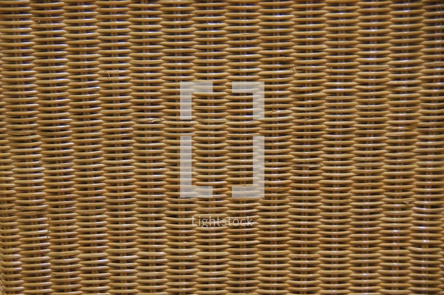 Woven wicker basket texture