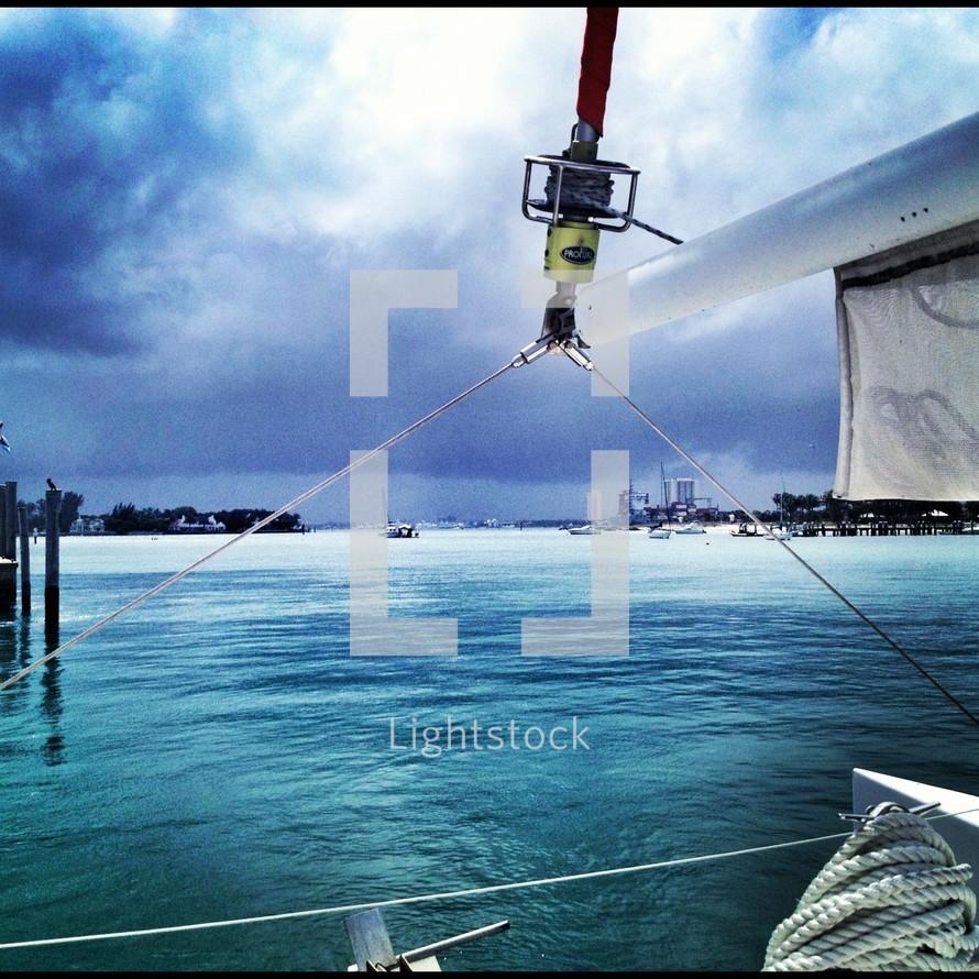 masts of a sailboat