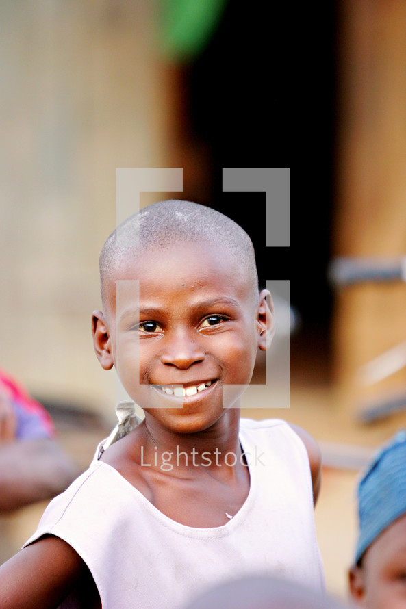 smiling african child girl Uganda afriica missions