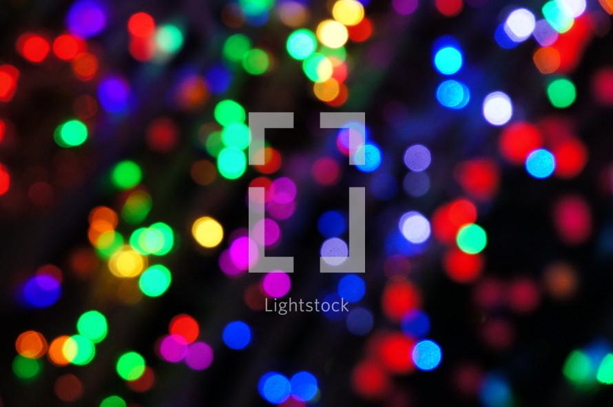 Colorful bokeh lights. Abstract, christmas, festive.