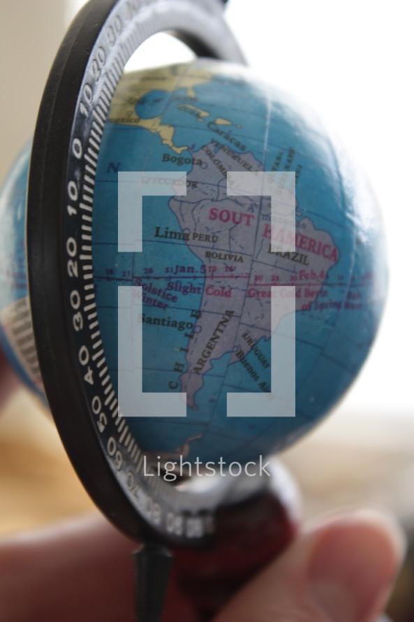 Miniature globe