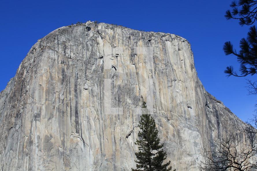 The face of a mountain