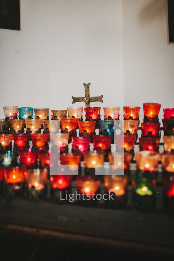 votive prayer candles