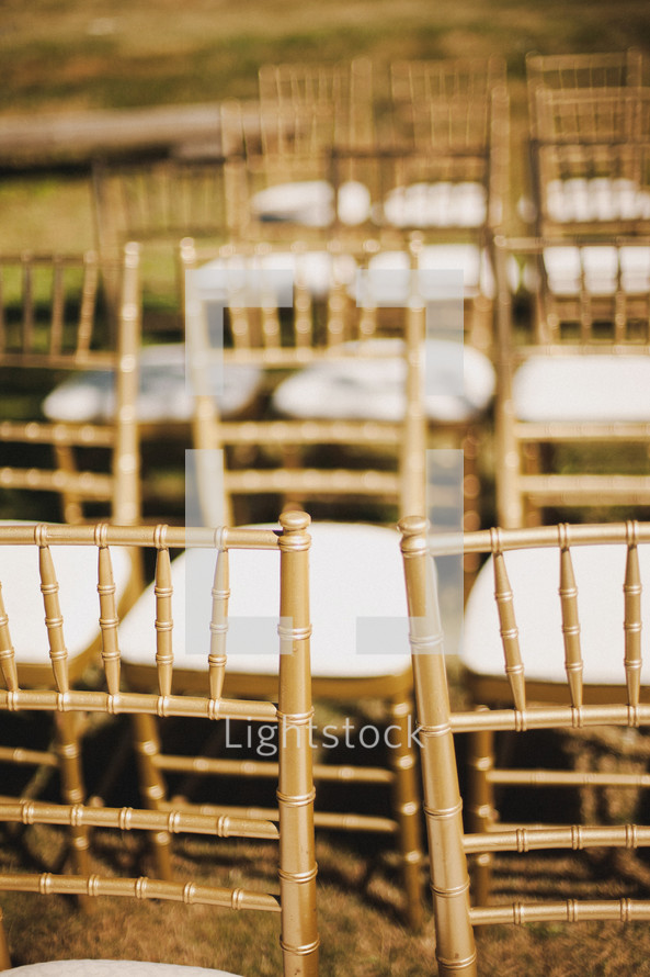 Empty chairs outdoors