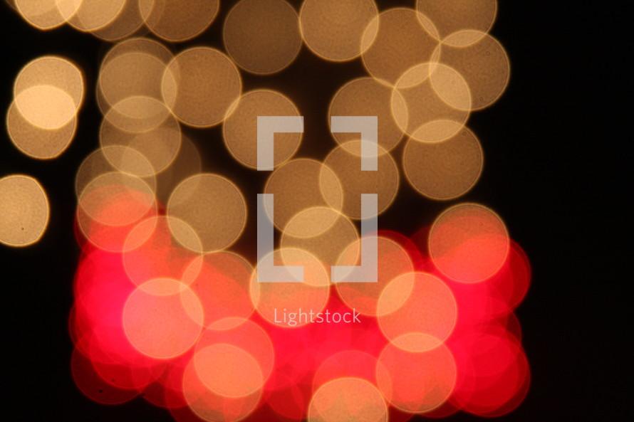 Glowing bokeh lights