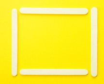 popsicle border on yellow