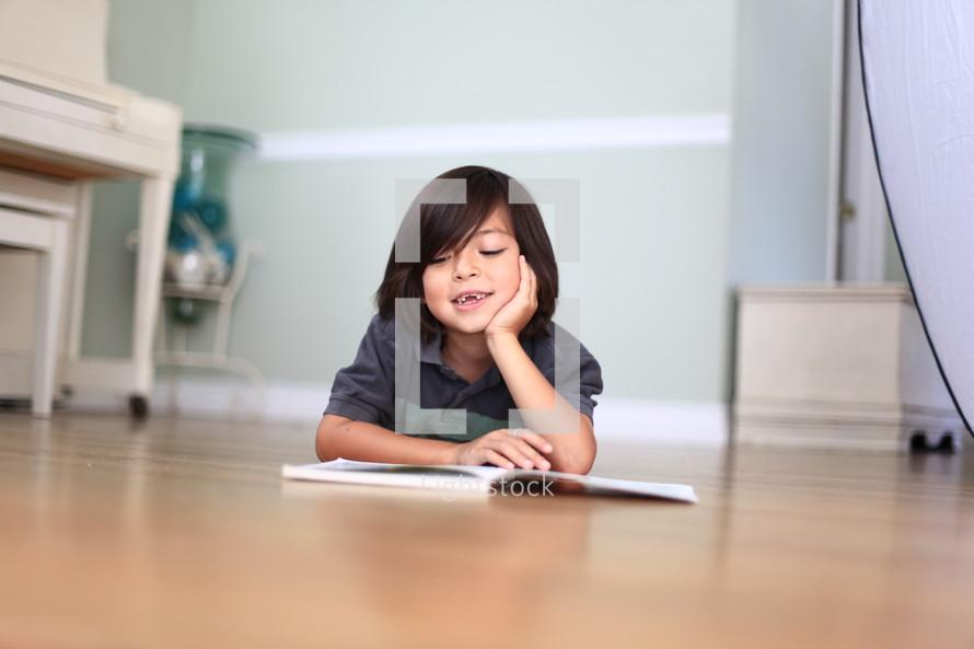 boy child reading