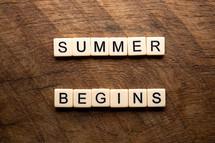 summer begins
