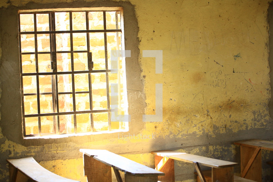 Very old classroom