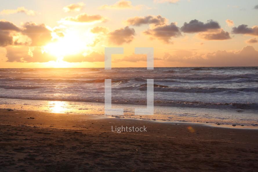 Ocean at sunrise