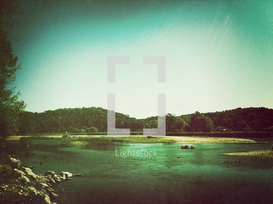 lake and lake shore
