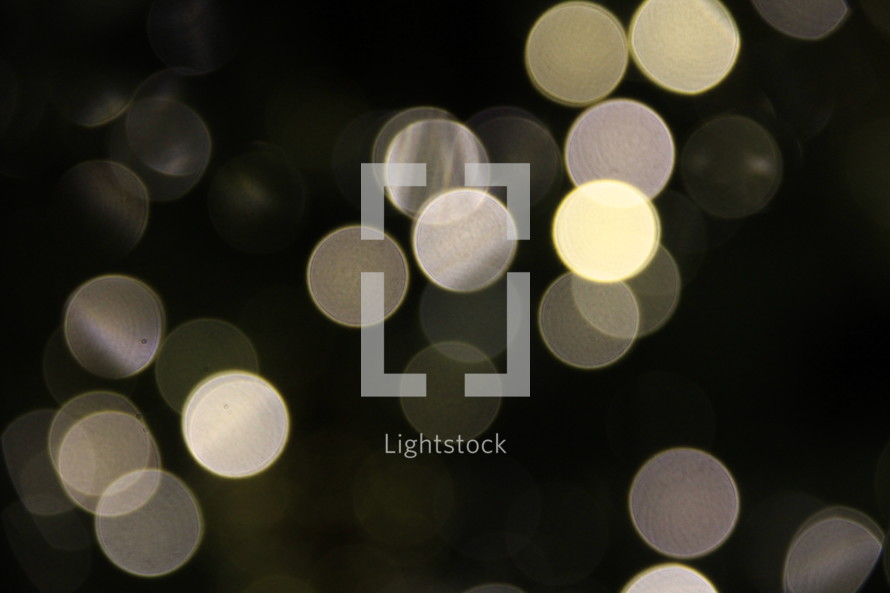 White Christmas lights - bokeh effect