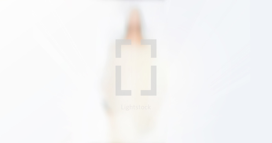 out of focus image of Jesus